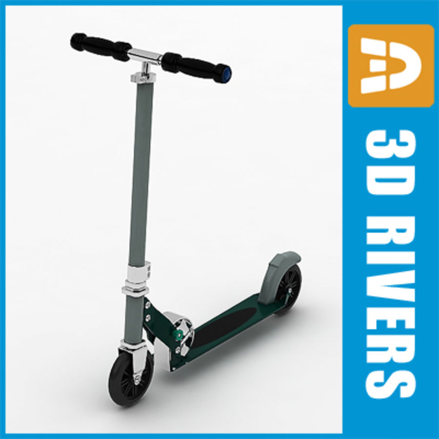Scooter  by 3DRivers royalty-free 3d model - Preview no. 1
