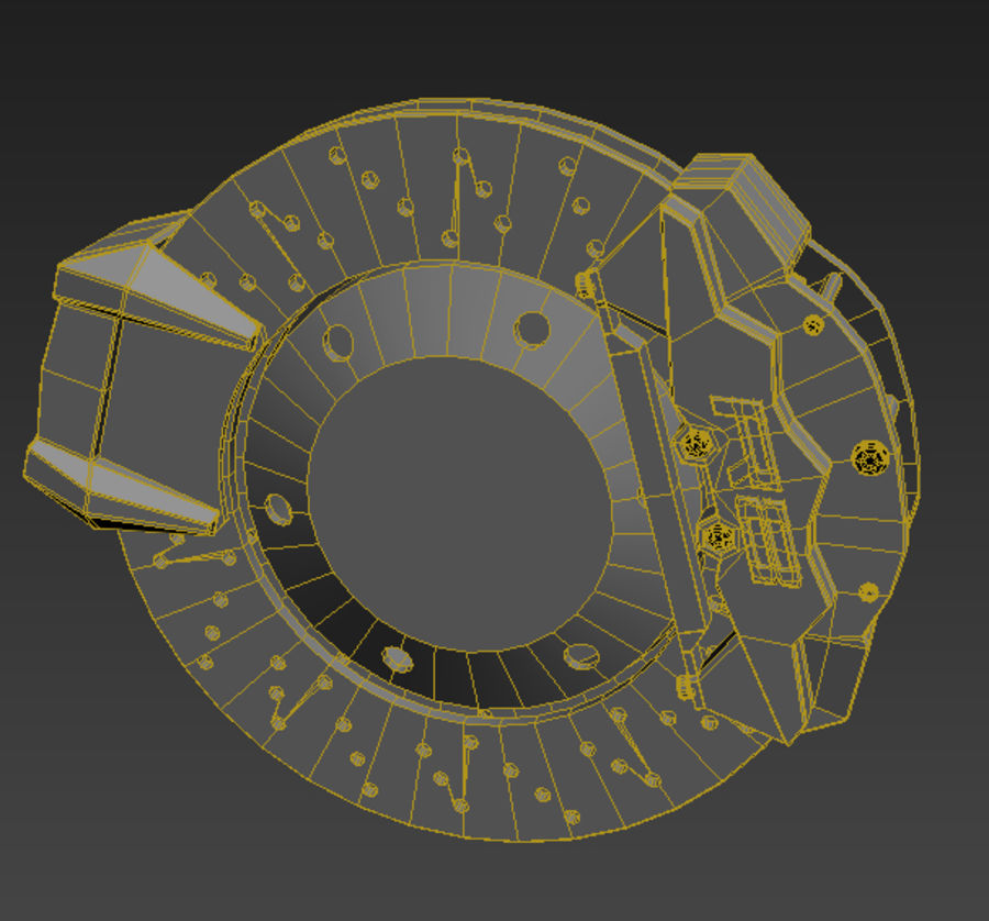 sport car wheel royalty-free 3d model - Preview no. 4