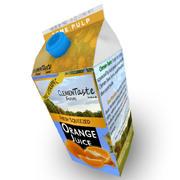 Orange Juice Carton 3d model