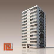Niski budynek poli 01 3d model