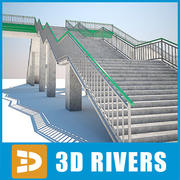 Reinforced concrete foot-bridge by 3DRivers 3d model