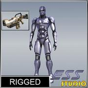 Android Rigged 3d model