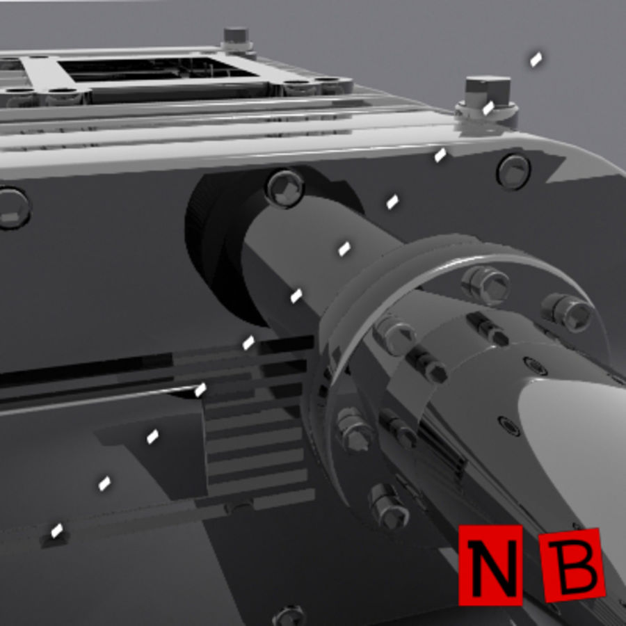 過給機 royalty-free 3d model - Preview no. 2