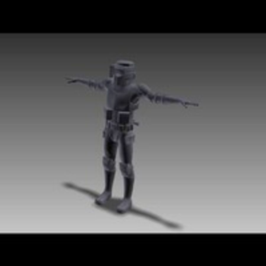 Scout Trooper royalty-free 3d model - Preview no. 7