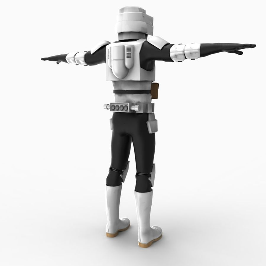 Scout Trooper royalty-free 3d model - Preview no. 3