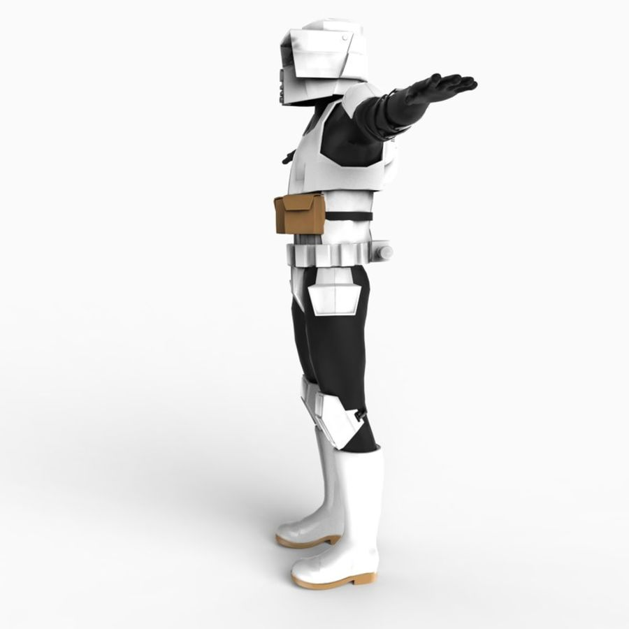 Scout Trooper royalty-free 3d model - Preview no. 4
