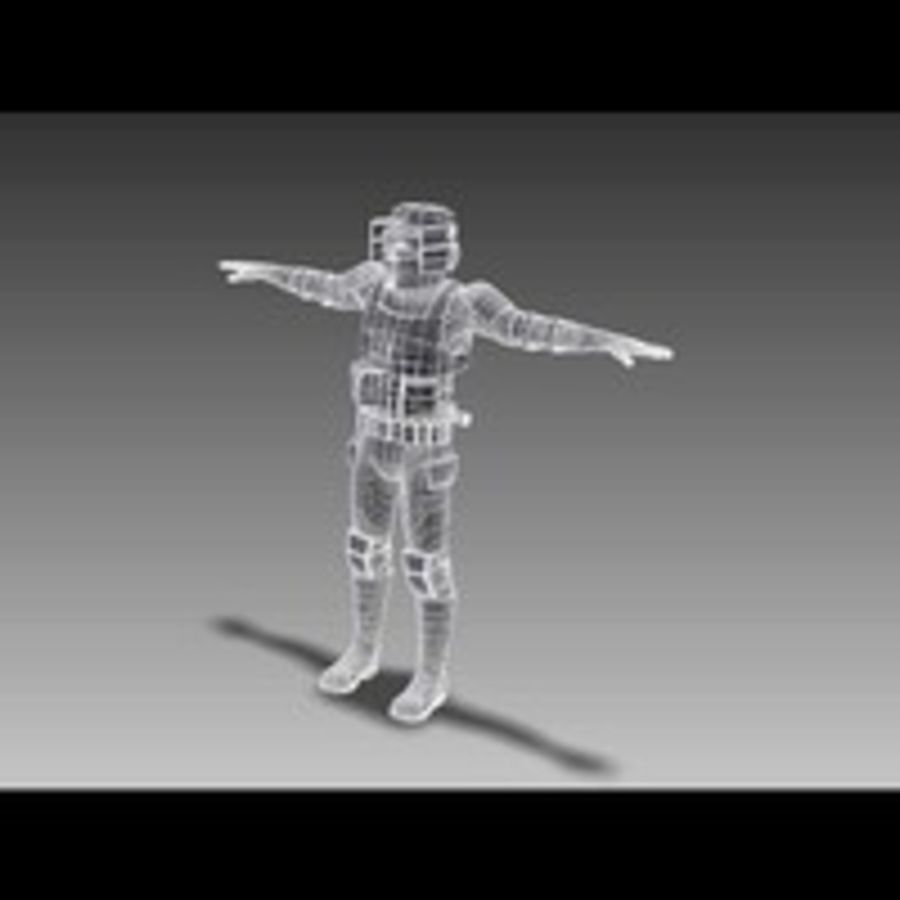 Scout Trooper royalty-free 3d model - Preview no. 8