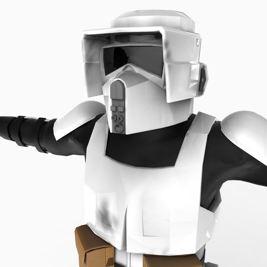 Scout Trooper royalty-free 3d model - Preview no. 6