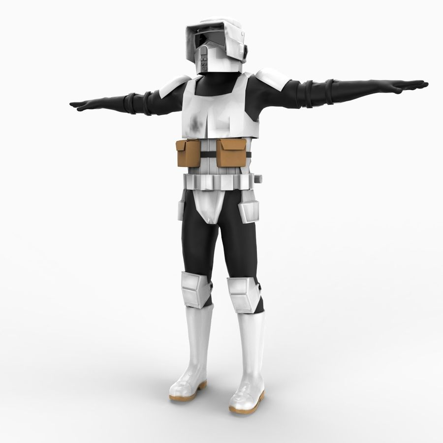Scout Trooper royalty-free 3d model - Preview no. 1
