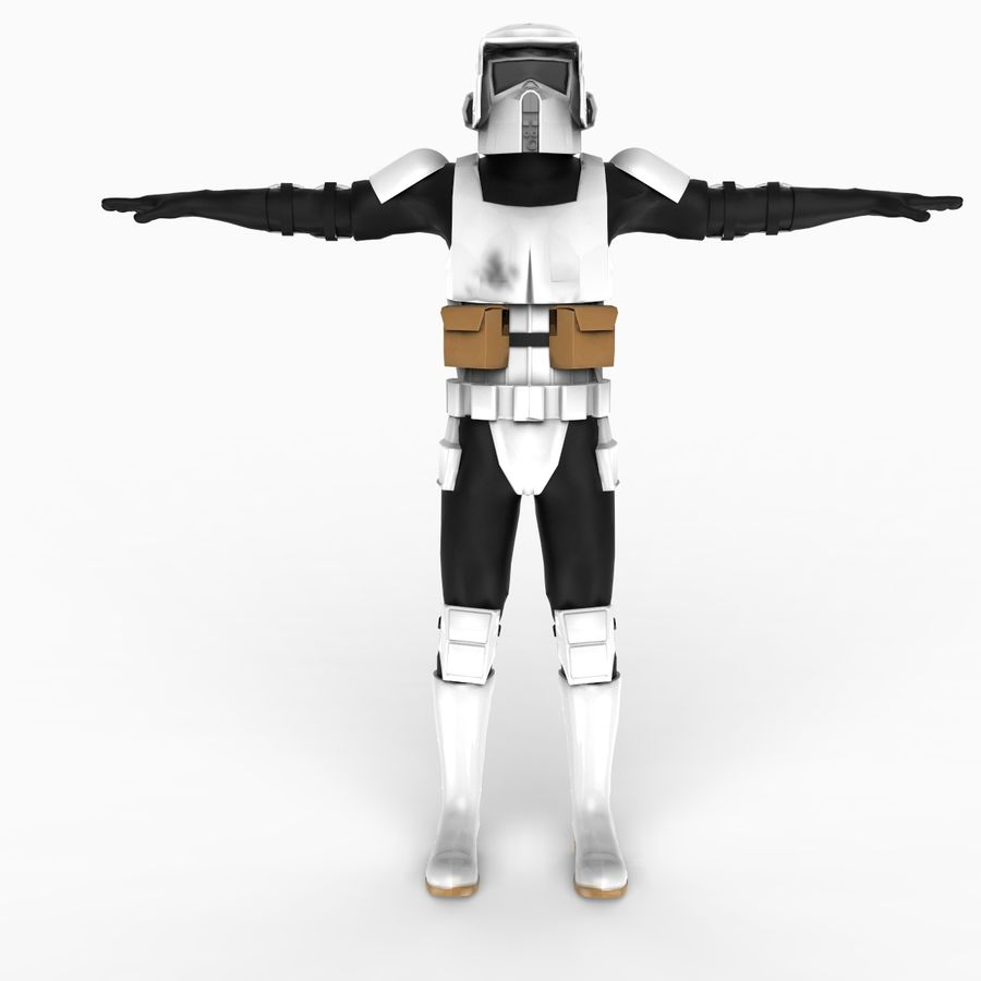 Scout Trooper royalty-free 3d model - Preview no. 5