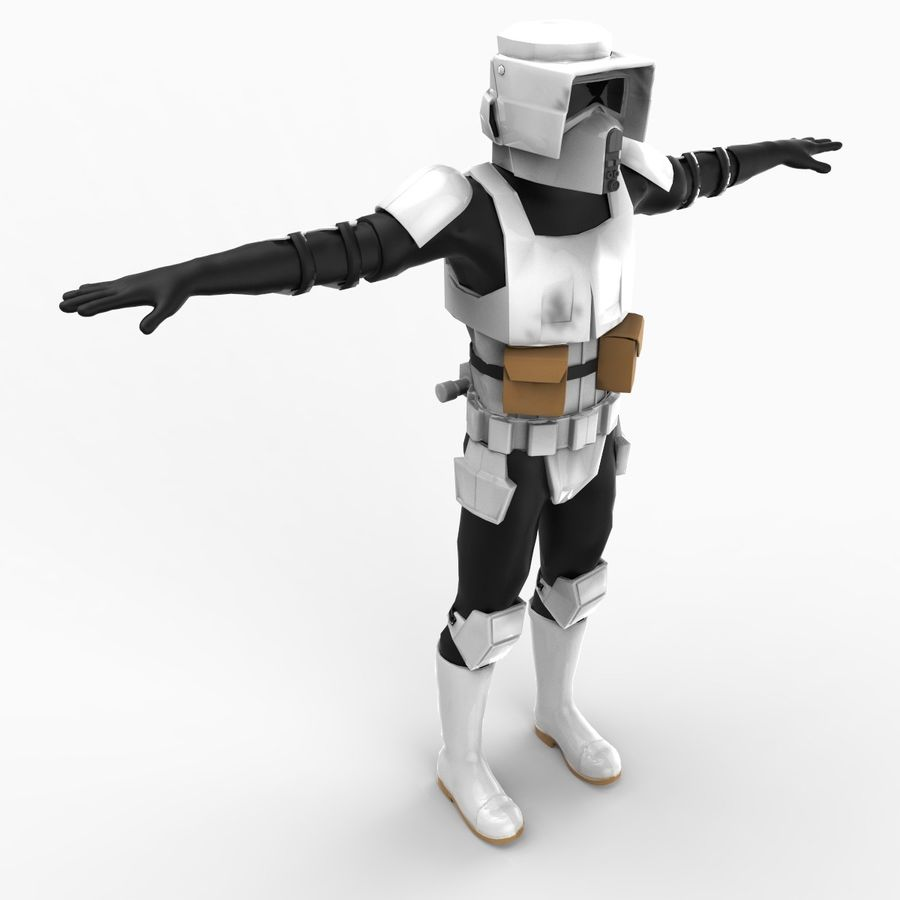 Scout Trooper royalty-free 3d model - Preview no. 2