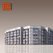 低聚建筑09 3d model