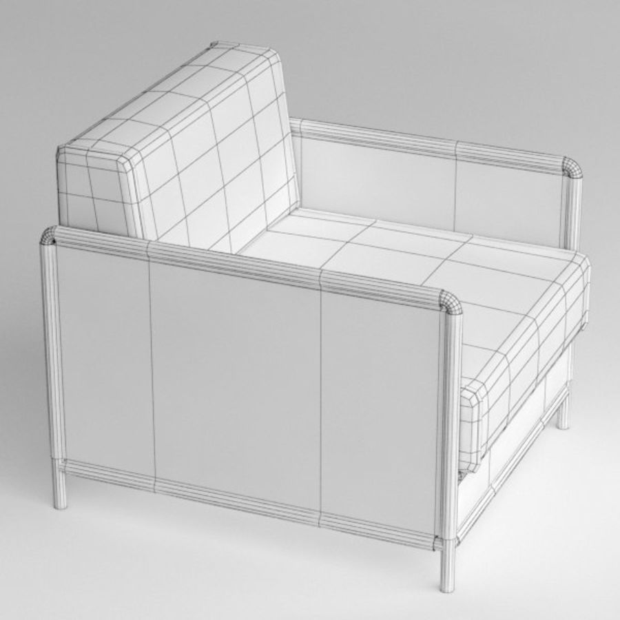 Fauteuil Wicker royalty-free 3d model - Preview no. 9