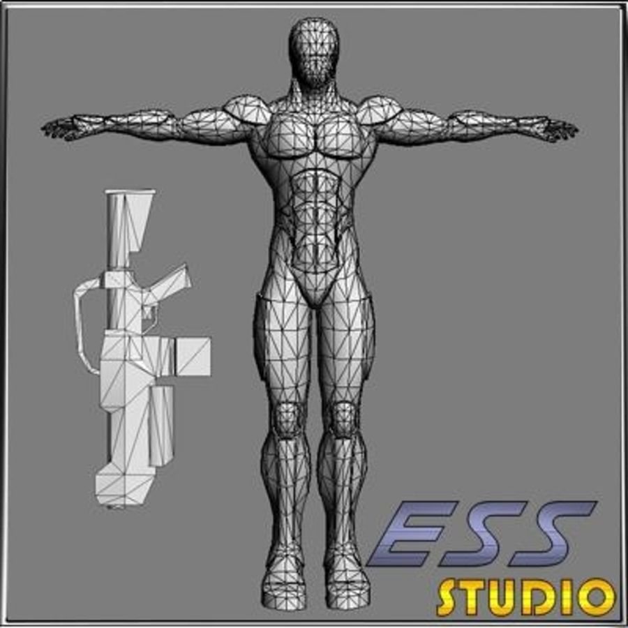 Android royalty-free 3d model - Preview no. 13