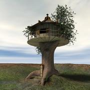 나무 위의 집 3d model