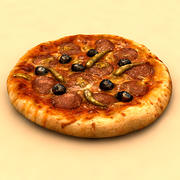 Pizza with Box 3d model