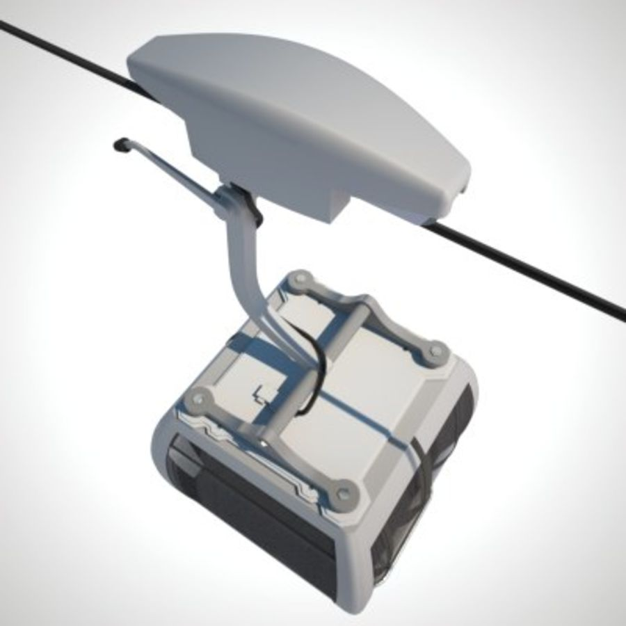 Cableway Car royalty-free 3d model - Preview no. 2