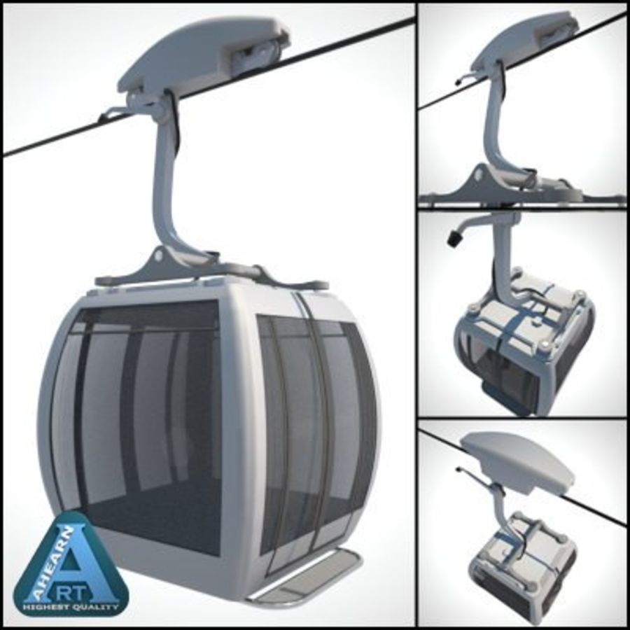 Cableway Car royalty-free 3d model - Preview no. 1