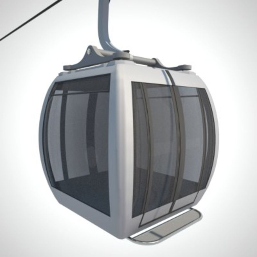 Cableway Car royalty-free 3d model - Preview no. 10