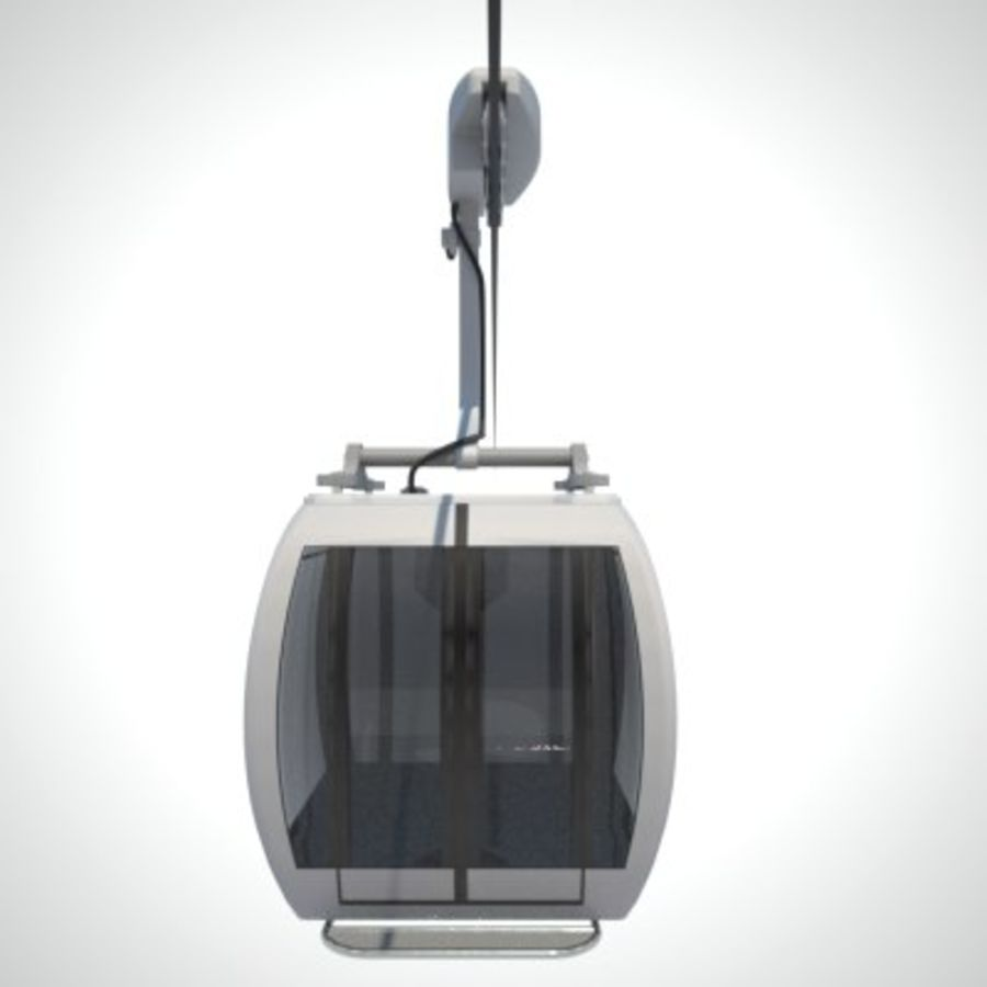 Cableway Car royalty-free 3d model - Preview no. 5