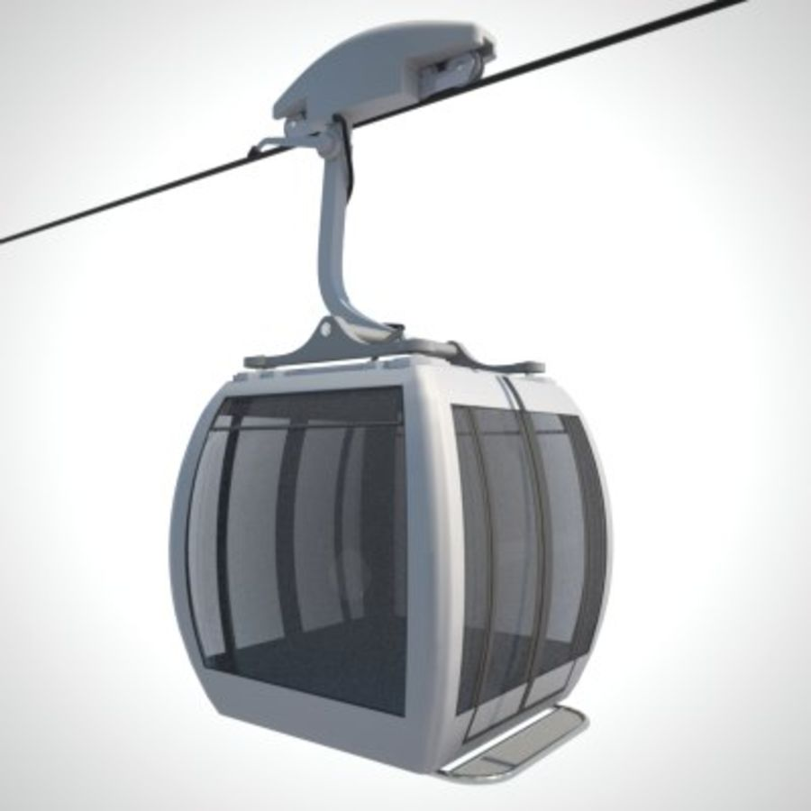 Cableway Car royalty-free 3d model - Preview no. 6
