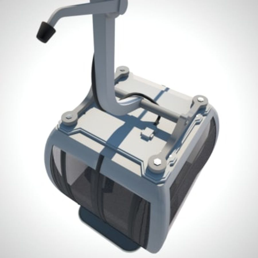 Cableway Car royalty-free 3d model - Preview no. 9