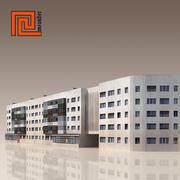 Low poly building 02 3d model