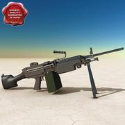 Arma automatica M249 squadra (SAW) 3d model