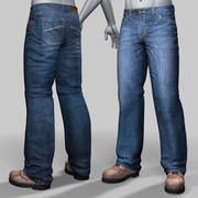 Jeans and boots 3d model