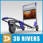 Chariot de l'aéroport par 3DRivers 3d model