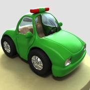 cartone animato della macchina della polizia max 3d model
