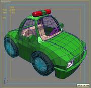 police car cartoon max 3d model