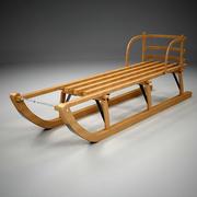 婴儿雪橇 3d model