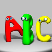 Funny Alphabet 3d model