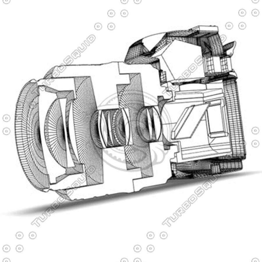 剖面式单反相机 royalty-free 3d model - Preview no. 7