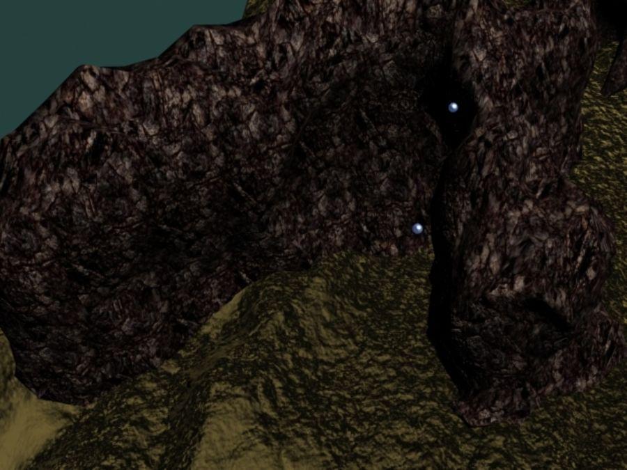 鱼缸里有水,岩石,沙子和气泡 royalty-free 3d model - Preview no. 2