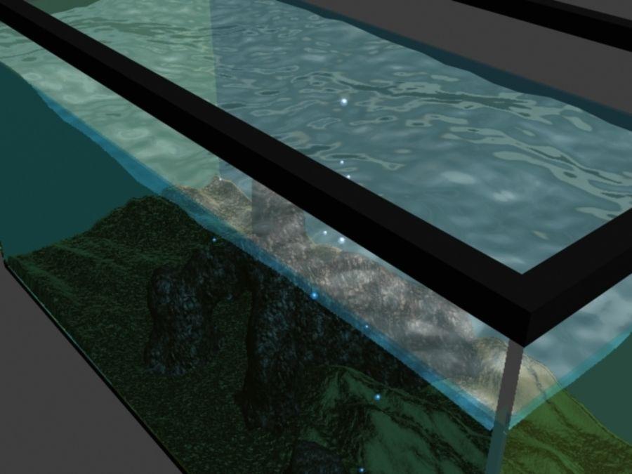 鱼缸里有水,岩石,沙子和气泡 royalty-free 3d model - Preview no. 4