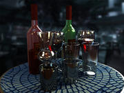 Glass Cup Collection 3d model