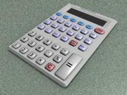 Vetenskaplig kalkylator 3d model