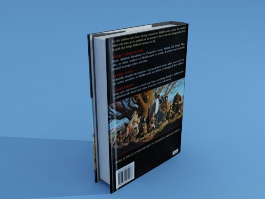 High Poly Book royalty-free 3d model - Preview no. 3