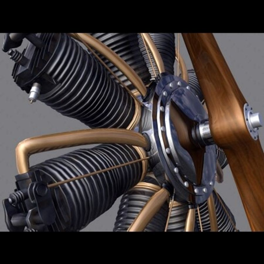Radial Engine royalty-free 3d model - Preview no. 6