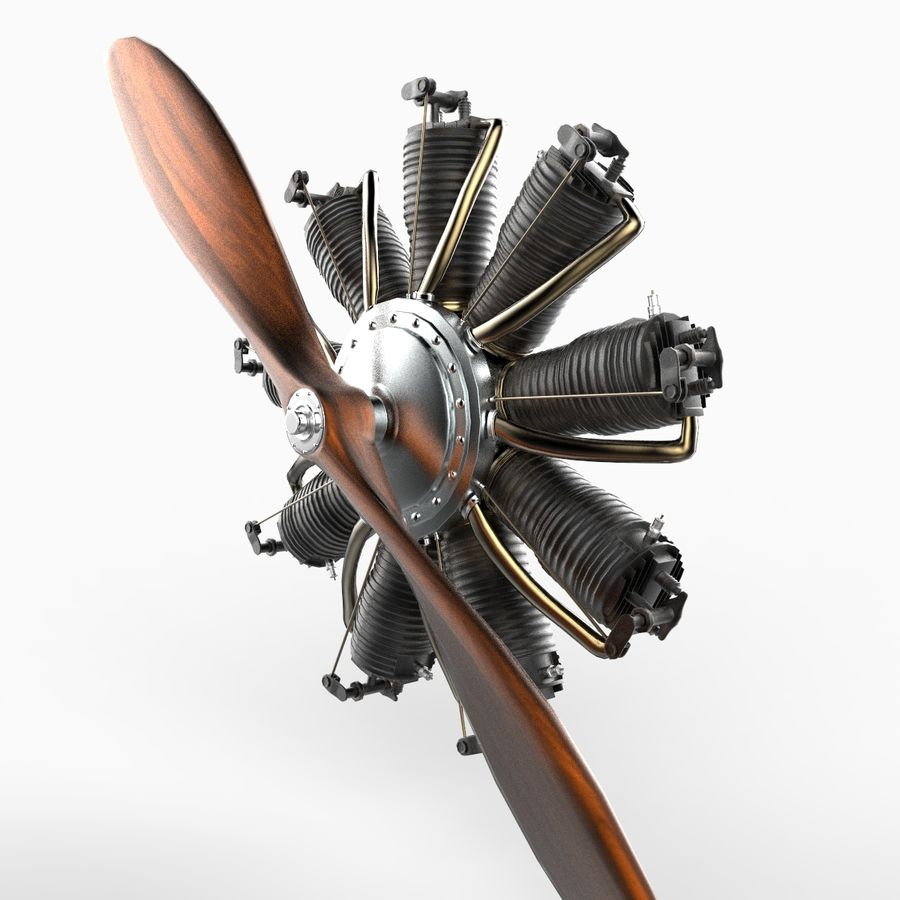Radial Engine royalty-free 3d model - Preview no. 2