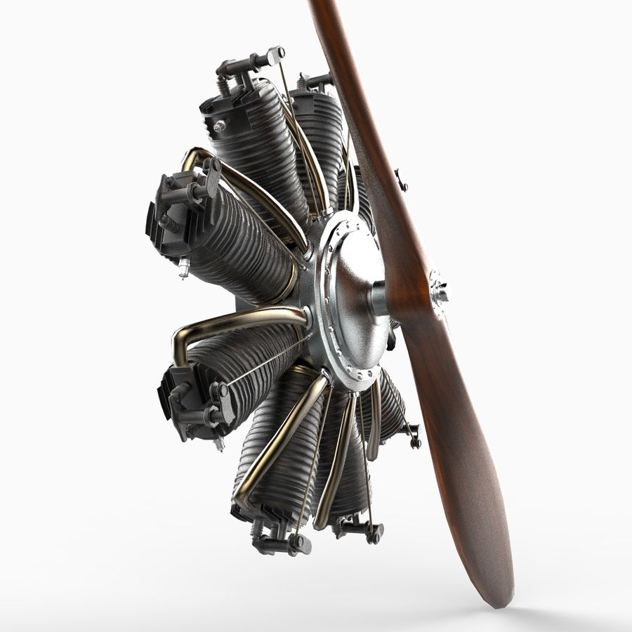 Radial Engine royalty-free 3d model - Preview no. 3