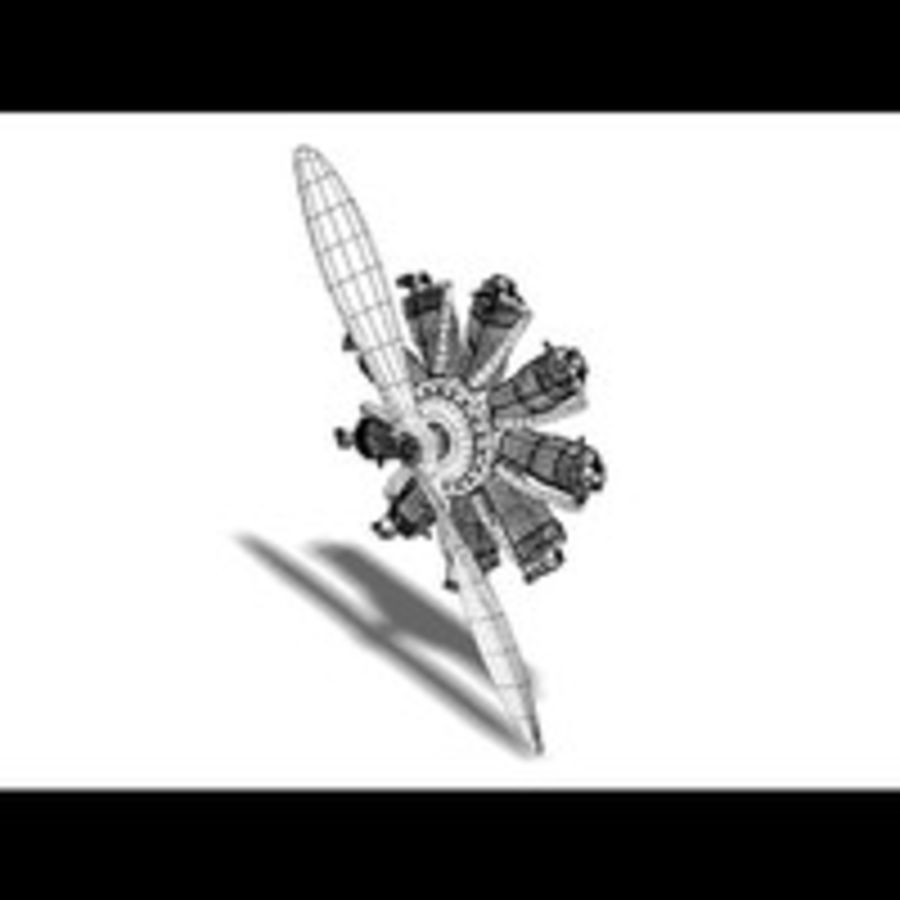 Radial Engine royalty-free 3d model - Preview no. 9