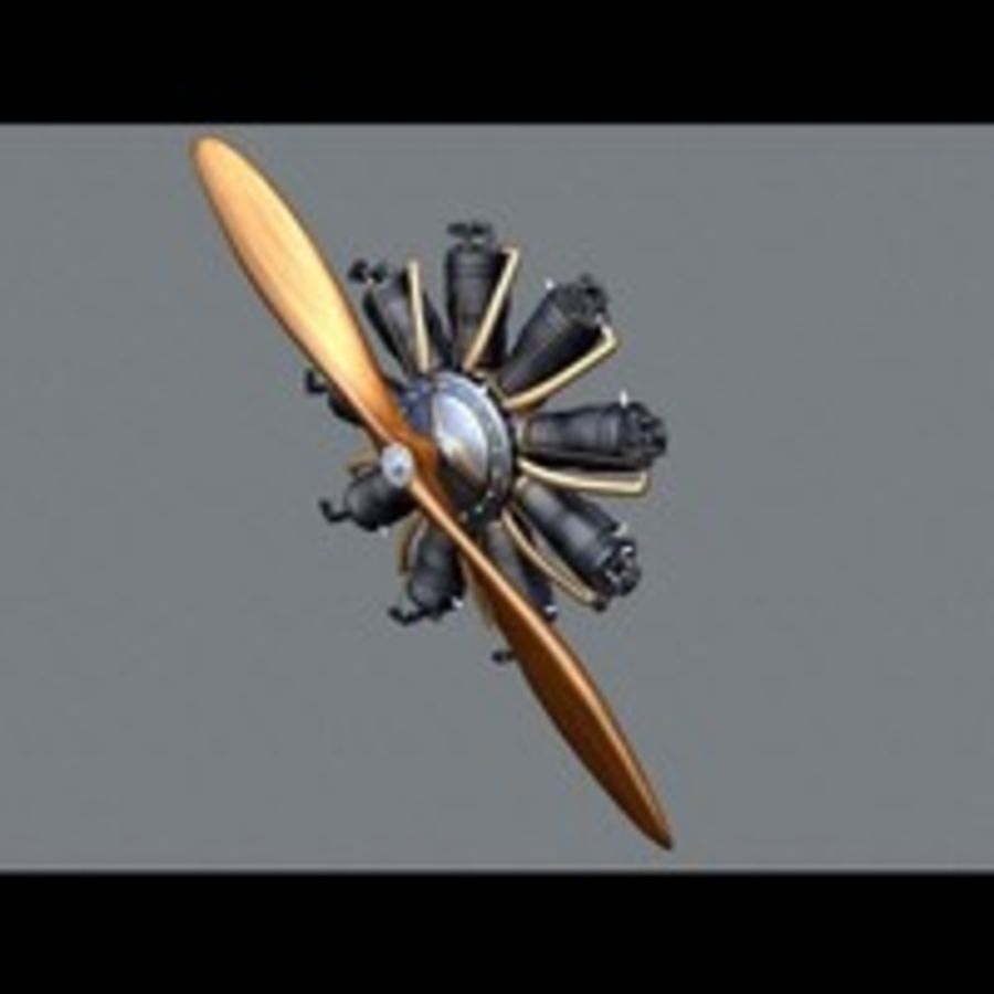 Radial Engine royalty-free 3d model - Preview no. 7