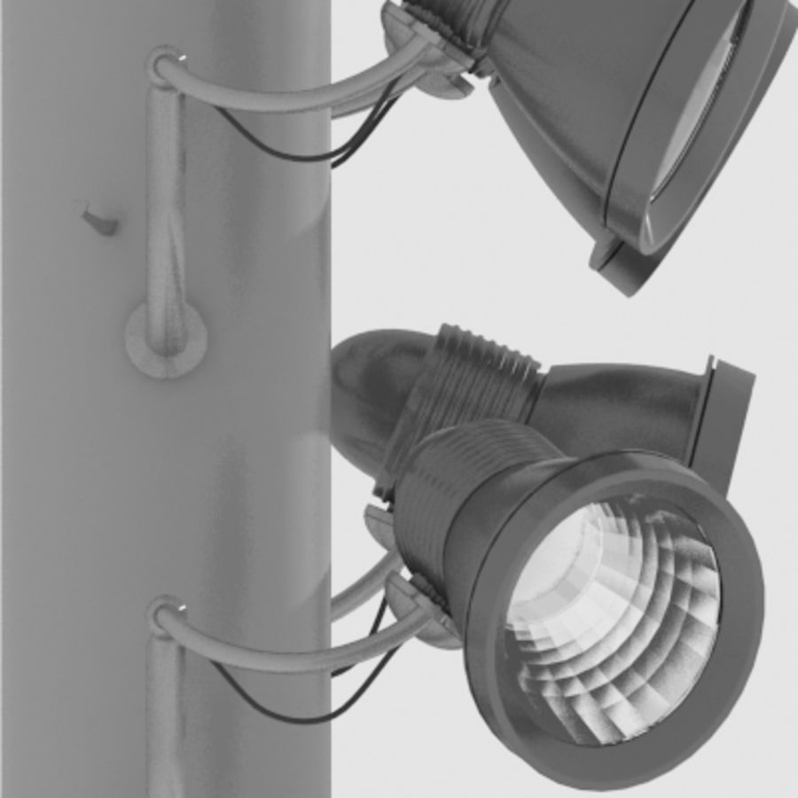 Stadium Lights C4d: Stadium Light Pole 3D Model $14