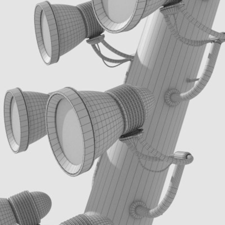 Stadium Light Pole royalty-free 3d model - Preview no. 6