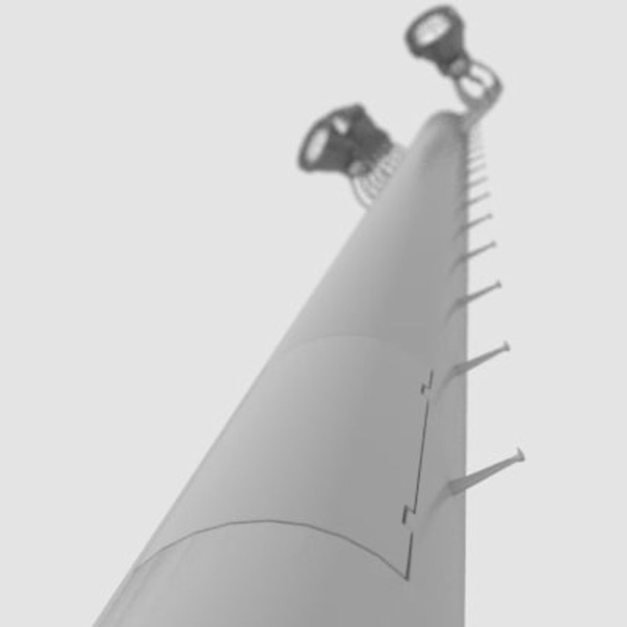 Stadium Light Pole royalty-free 3d model - Preview no. 3