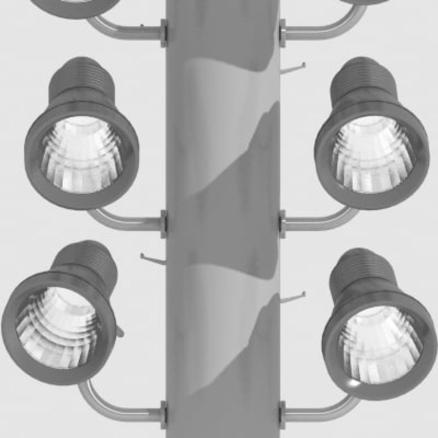 Stadium Light Pole royalty-free 3d model - Preview no. 4