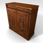 Low Poly Medieval Themed Cabinet 3d model
